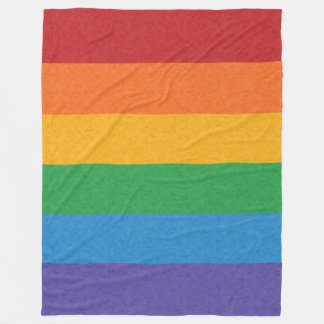 Regenbogen-Stolz-Flagge Fleecedecke