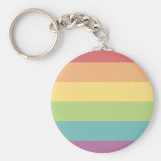 Regenbogen-Stolz-Schlüsselring Standard Runder Schlüsselanhänger