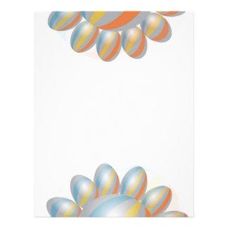 Regenbogen-Streifen Baloons Flyer