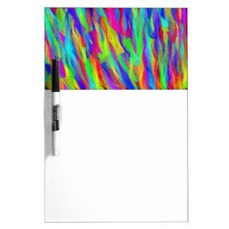 Regenbogen streift trockenes Leichtigkeits-Brett Memo Board