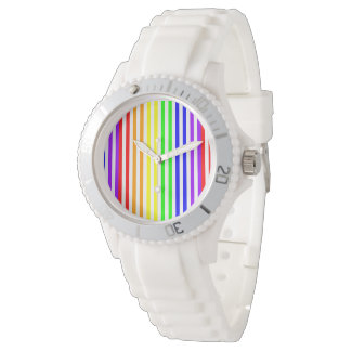 Regenbogen Striped Uhren