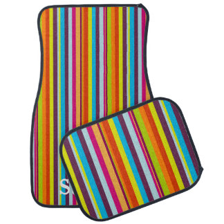 Regenbogen Stripes Auto-Boden-Matten Auto Fussmatte
