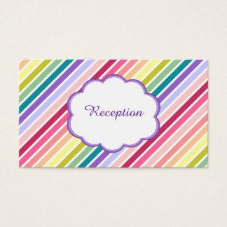 Regenbogen Stripes den Hochzeits-Empfang Visitenkarte