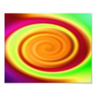 Regenbogen-Strudel-abstraktes Muster Fotodruck