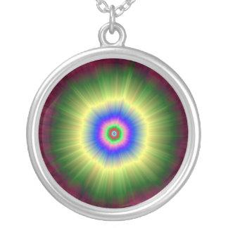 Regenbogen-Supernova-Halskette Versilberte Kette