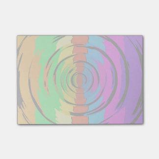 Regenbogen-Test-Muster Post-it Klebezettel