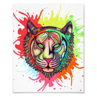 Regenbogen-Tiger Fotodruck