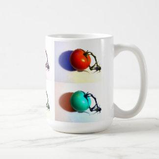 Regenbogen-Tomate-Pop-Art Tasse