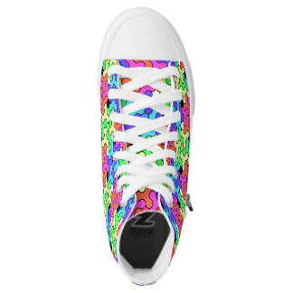 Regenbogen-Turnschuhe mit Unruhe-Spinner-Entwurf Hoch-geschnittene Sneaker