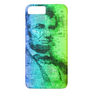 Regenbogen-Typografie USA Präsidenten-Abraham iPhone 8 Plus/7 Plus Hülle