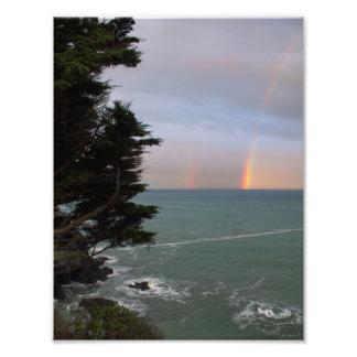 Regenbogen über dem Ozean an Mendocino Küste Fotodruck