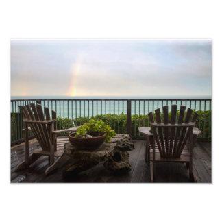 Regenbogen und Adirondacks in dem Ozean Fotodruck