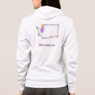 Regenbogen-Washington-Karte Hoodie