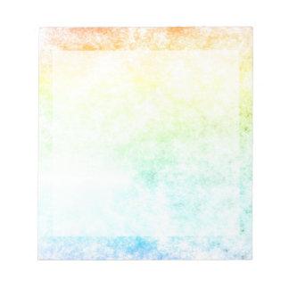 Regenbogen-Wolken-bewölkter Tag Notiz Block
