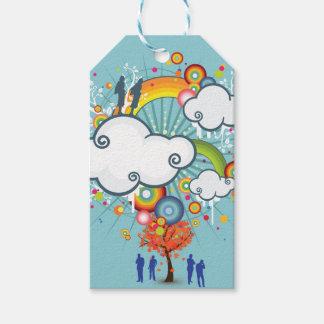 Regenbogen-Wolken-Leute-Geschenk-Umbau Geschenkanhänger