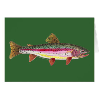 Regenbogenforelle-Fische Grußkarte
