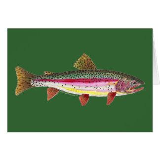 Regenbogenforelle-Fische Karte
