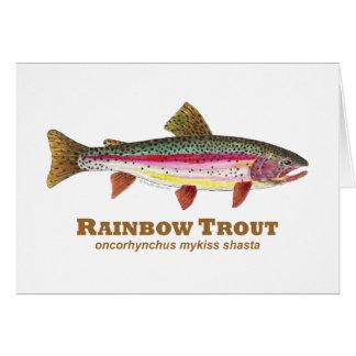 Regenbogenforelle-Latein Grußkarten