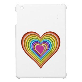 Regenbogenherz iPad Mini Hülle