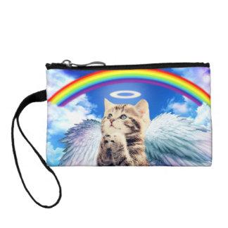 Regenbogenkatze - Katzenbeten - Katze - niedliche Münzbeutel