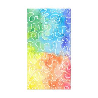Regenbogensquiggle-Wasserfarbe Leinwanddruck