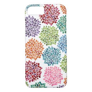 Regenbogenwatercolor-Dahlie-Blumen iPhone 7 Fall iPhone 7 Hülle