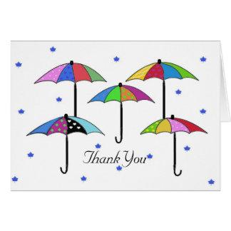 Regenschirm danken Ihnen Karte