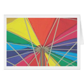 Regenschirm innerhalb der Anmerkungskarte Karte