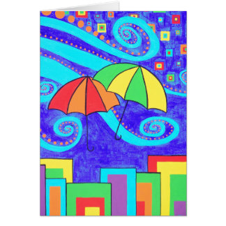 Regenschirme Karte