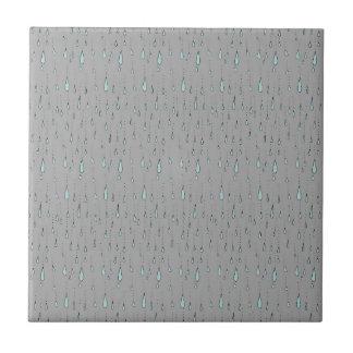 Regentropfen Kleine Quadratische Fliese