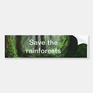 Regenwald Autoaufkleber