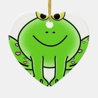 Regenwaldgrüner Frosch Keramik Ornament