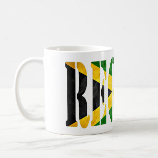 Reggae mit Jamaika-Flagge Tasse