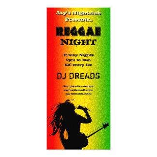 Reggae-NachtParty-oder Nachtklub-Gestell-Karten Werbekarte