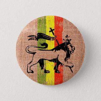 Reggaelöwekönig Runder Button 5,7 Cm