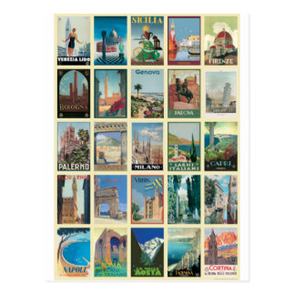 Regionen Italiens Postkarte
