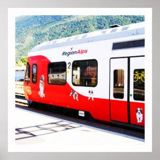 Regions-Alpenzug Poster