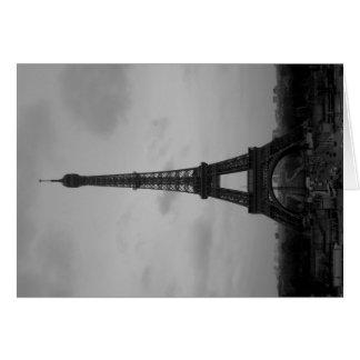 Regnerischer Tag am Eiffelturm Karte
