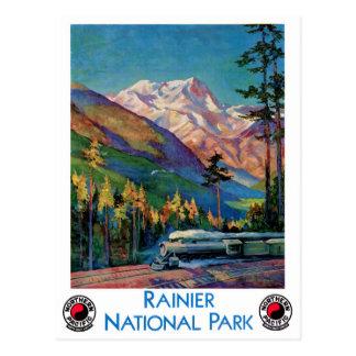 Regnerischeres Nationalpark-Vintages Plakat wieder Postkarte