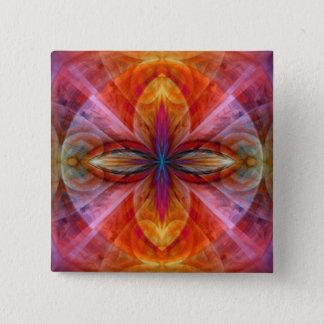 Reich der Sun-Blume Quadratischer Button 5,1 Cm