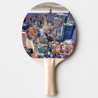 Reich-Staats-Gebäude und Midtown Manhattan Tischtennis Schläger