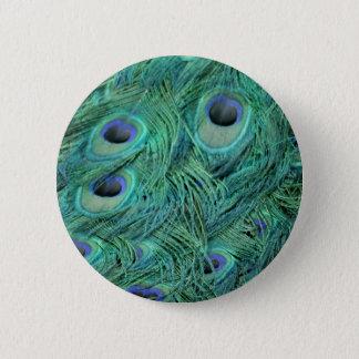 Reicher grüner Pfau Runder Button 5,7 Cm