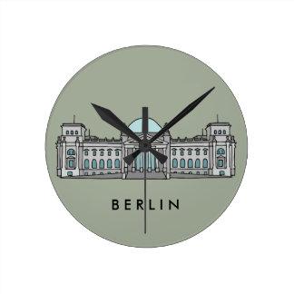 Reichstagsgebäude in Berlin Runde Wanduhr