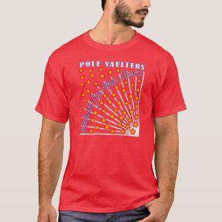 Reichweite für das Stern-Polevaulter-T - Shirt-Rot T-Shirt