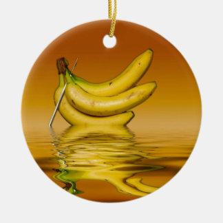 Reife gelbe Bananen Keramik Ornament