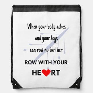 Reihe mit Ihrer Herzmotivation Sportbeutel