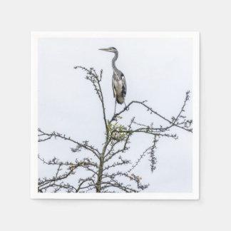 Reiher auf einem Baum Servietten