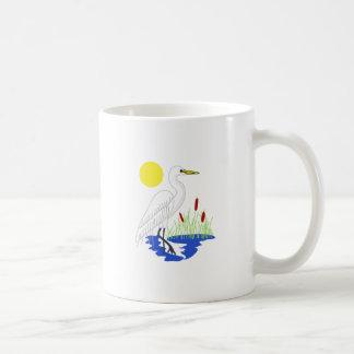 Reiher-Szene Kaffeetasse