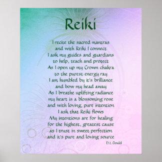 """""""Reiki"""" Gedicht-Kunstplakat Poster"""