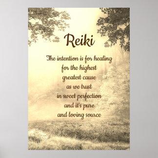 Reiki Gedicht Poster